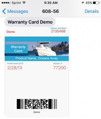 Send MMS passes through text message
