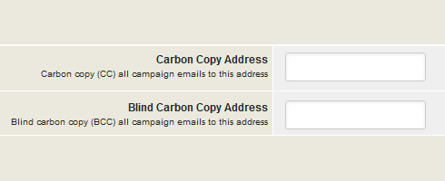 carbon copy and blind carbon copy address