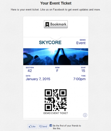 demo event ticket on android and desktop browsers