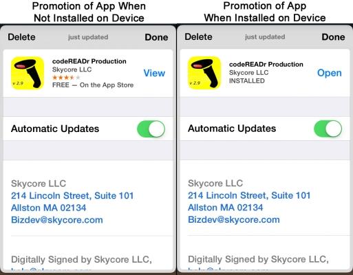 promote apps through passbook