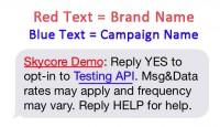 reply yes to optin to testing api