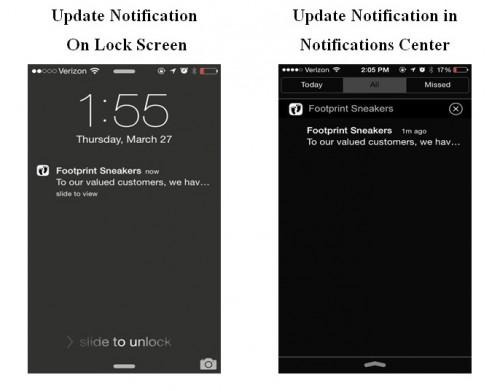 update notification on lock screen