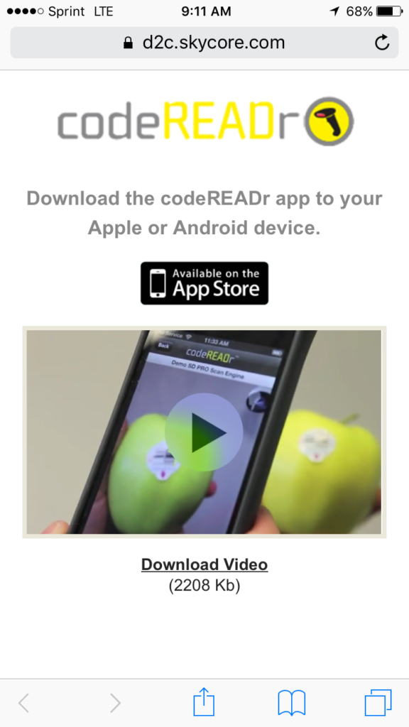 Apple App Store Button on landing page