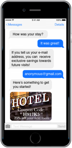 example chatbot asking text questions