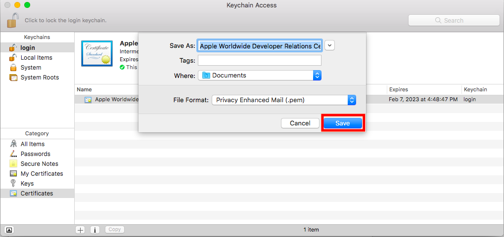 Save the Apple World Developer Intermediate Certificate