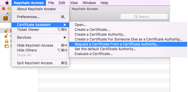 Request a certificate from a certificate authority steps
