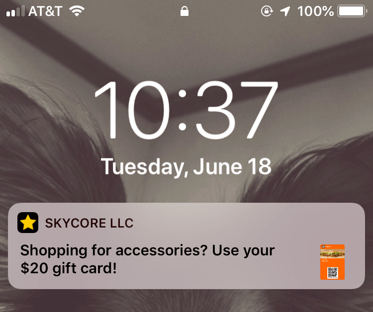 iBeacon Notifications for Apple Wallet