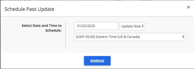 Schedule Pass Update part 2