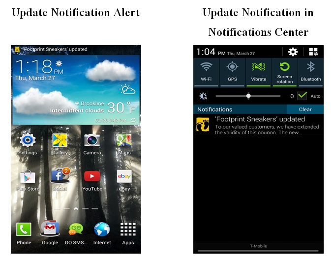 android update notification alerts