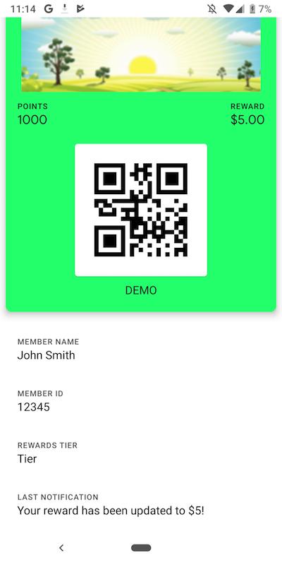 Update Notification on Google Pay Pass