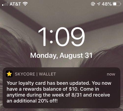 Wallet Push Notifications