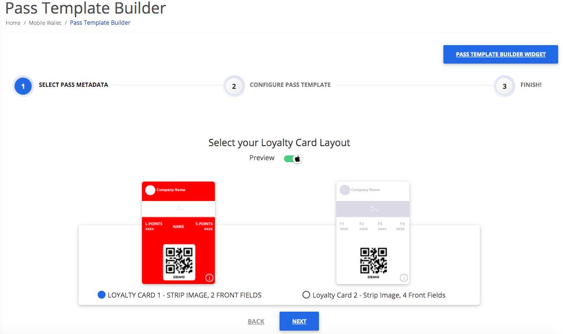 Pass Template Builder step 2