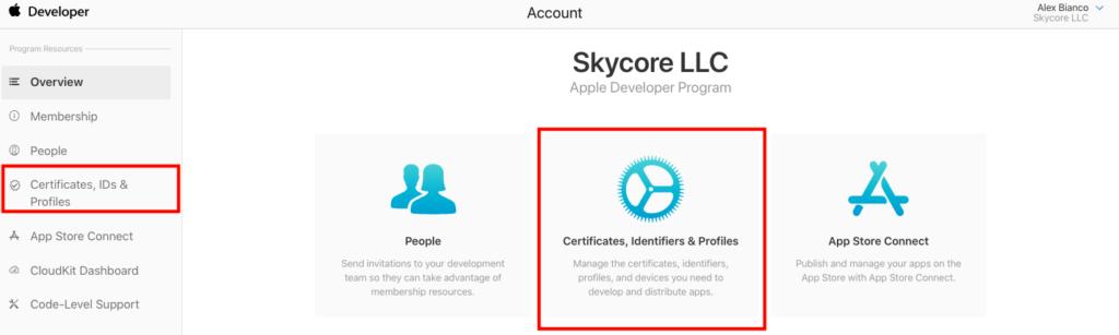 Apple Developer Site