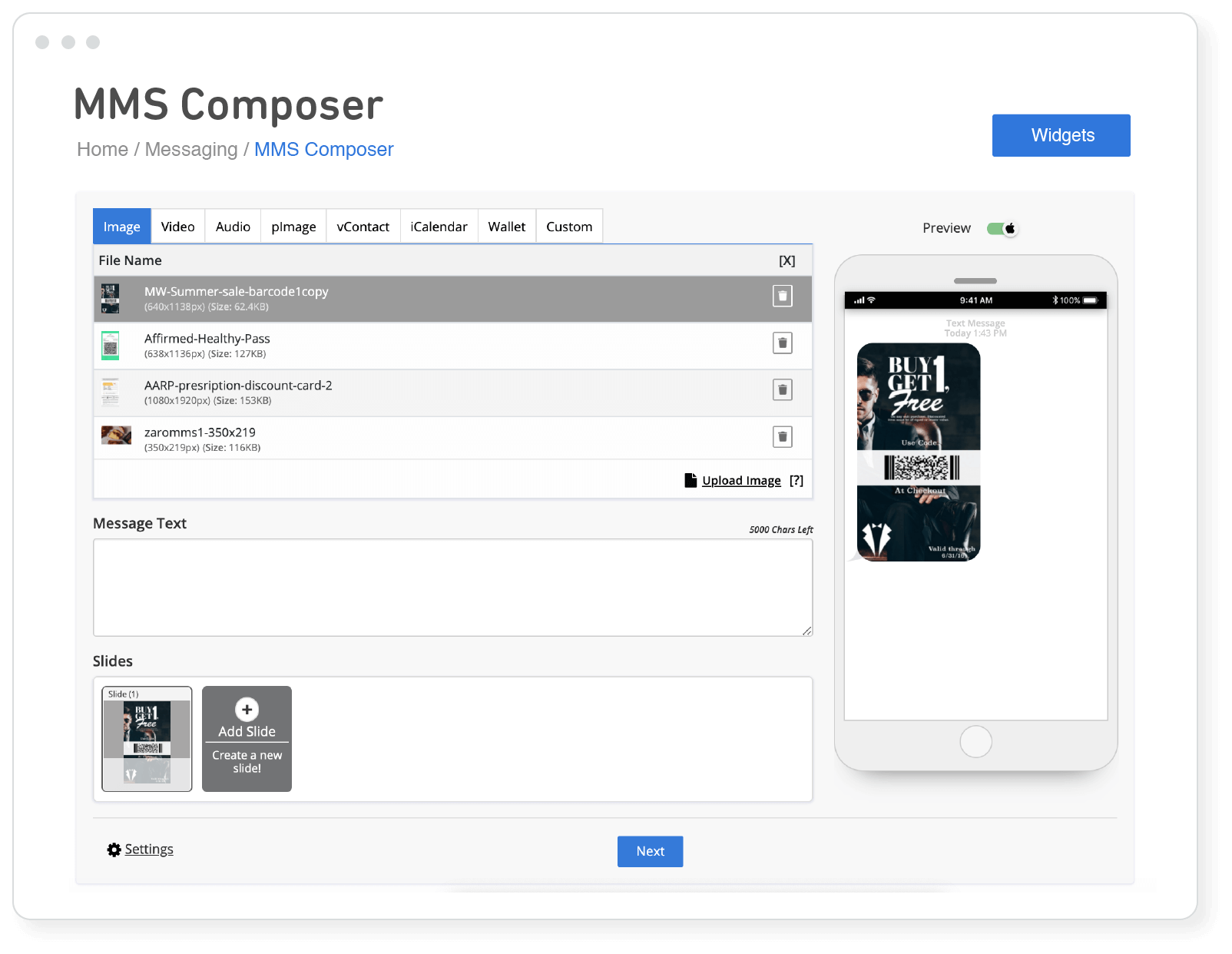 MMS Composer
